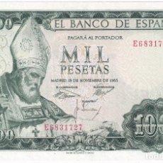 Billetes españoles: ESPAÑA 1000 PESETAS 19 NOVIEMBRE 1965 SERIE E OBISPO S. ISIDORO PRACTICAMENTE SC. Lote 211455541