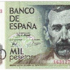 Billetes españoles: ESPAÑA 1000 PESETAS 1979 SERIE A PLANCHA BENITO PEREZ GALDOS. Lote 211456756