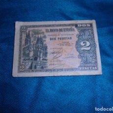 Billetes españoles: BILLETE DE DOS PESETAS. BURGOS, 12 DE OCTUBRE DE 1937. SERIE A.. Lote 211760175