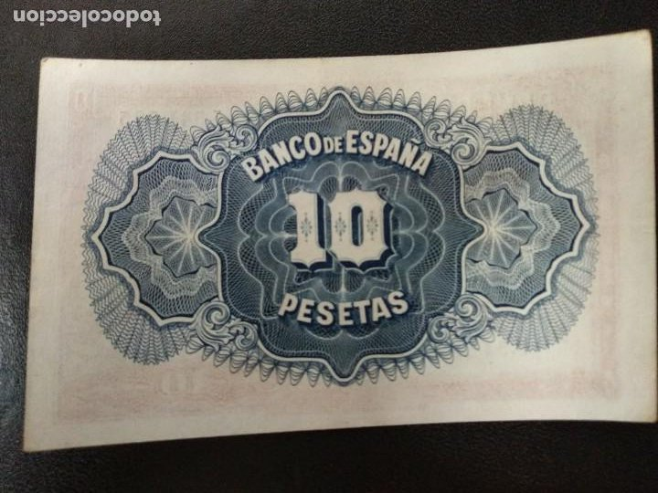 Billetes españoles: 1935 España billete 10 ptas . 5,541,885 - Foto 2 - 211939970