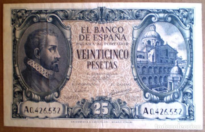 ESTADO ESPAÑOL 25 PESETAS 1940 VER FOTOS (Numismática - Notafilia - Billetes Españoles)