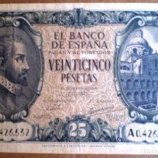 Billetes españoles: ESTADO ESPAÑOL 25 PESETAS 1940 VER FOTOS. Lote 212171461