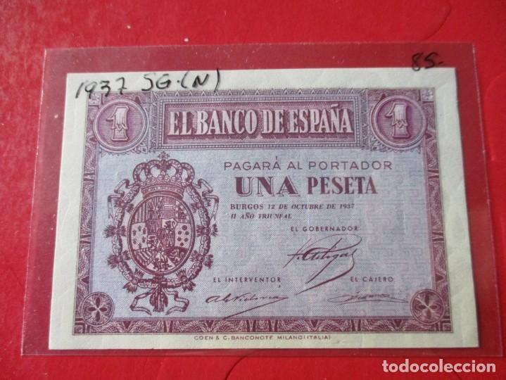 BILLETE DE 1 PESETA. OCTUBRE 1937. #SG (Numismática - Notafilia - Billetes Españoles)