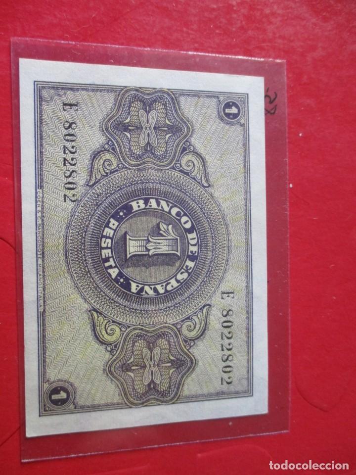 Billetes españoles: Billete de 1 peseta. Octubre 1937. #SG - Foto 2 - 212340388