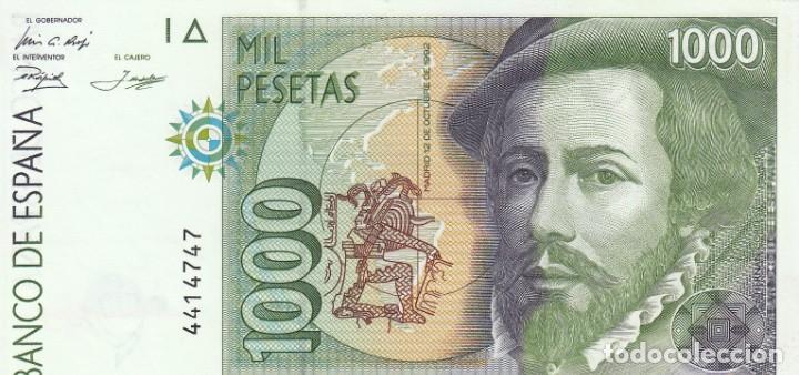 BILLETE BANCO DE ESPAÑA 1000 PESETAS 1992 PLANCHA Y SIN SERIE (Numismática - Notafilia - Billetes Españoles)