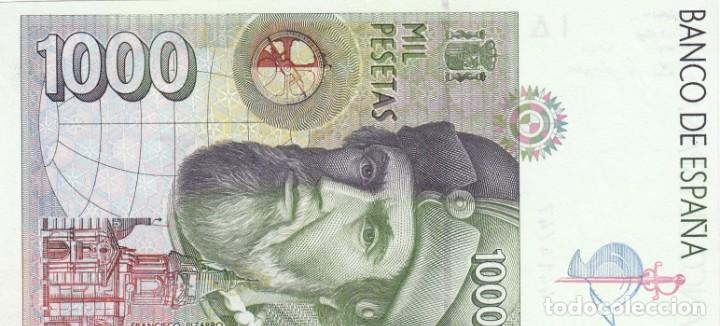 Billetes españoles: BILLETE BANCO DE ESPAÑA 1000 PESETAS 1992 PLANCHA Y SIN SERIE - Foto 2 - 212790603