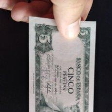 Billetes españoles: BILLETE DE 5 PESETAS EMISIÓN 22 JULIO 1954 SERIE F SIN CIRCULAR. Lote 212832418