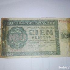 Banconote spagnole: BILLETE. 100 PESETAS. BURGOS. 1936. VER IMAGEN. Lote 213090976