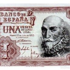 Billetes españoles: BILLETE DE ESPAÑA DE 1 PESETA DE 1953 BUEN ESTADO MARQUES DE SANTA CRUZ. Lote 214689625