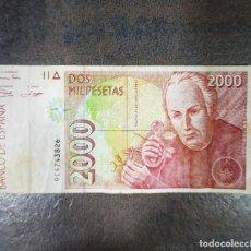 Billetes españoles: BILLETE DOS MIL PESETAS MADRID 24 DE ABRIL DE 1992. Lote 214742673
