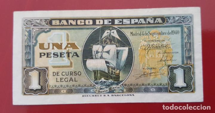BILLETE DE 1 PESETA ESPAÑA 1940 CARABELA SANTA MARÍA (Numismática - Notafilia - Billetes Españoles)