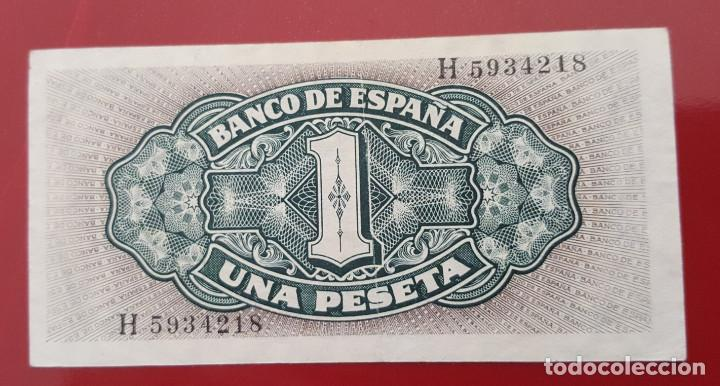 Billetes españoles: Billete de 1 peseta España 1940 Carabela Santa María - Foto 2 - 215246500