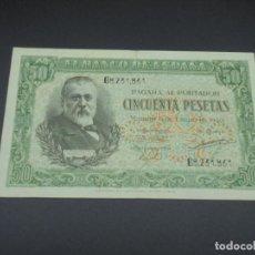 Billetes españoles: BILLETE. 50 PESETAS. MADRID. 1940. MENENDEZ PELAYO. EBC. Lote 215979822