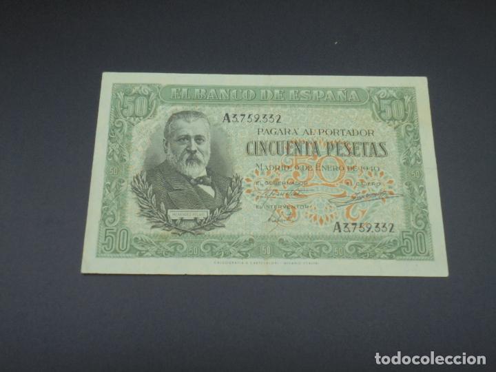 BILLETE. 50 PESETAS. MADRID. 1940. MENENDEZ PELAYO. SERIE A. EBC+ (Numismática - Notafilia - Billetes Españoles)