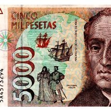 Billetes españoles: BILLLETE DE ESPAÑA DE 5.000 PESETAS DE 1992 CIRCULADO. Lote 216404365