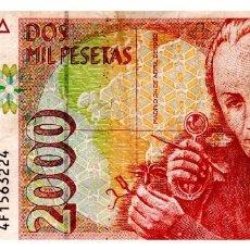 Billetes españoles: BILLETE DE ESPAÑA DE 2.000 PESETAS DE 1992 CIRCULADO. Lote 216404408