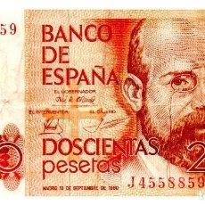 Billetes españoles: BILLETE DE ESPAÑA DE 200 PESETAS DE 1980 CIRCULADO. Lote 216404488