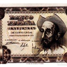 Billetes españoles: BILLETE DE ESPAÑA DE 1 PESETA DE 1951 BUEN ESTADO EL QUIJOTE. Lote 216404593