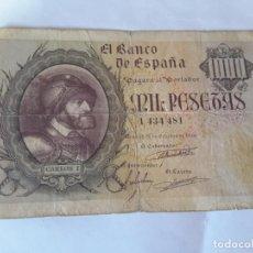 Billetes españoles: BILLETE 1000 PESETAS 1940. Lote 216476858