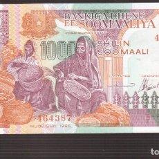 Billetes españoles: BILLETE DE AFRICA SOOMAALIYA SOMALIA 1000 CHELINES, 1996, P-37. Lote 217299987