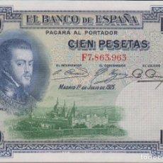 Billetes españoles: BILLETES ESPAÑOLES - ALFONSO XIII- 100 PESETAS 1925 - SERIE F (SC). Lote 217609127