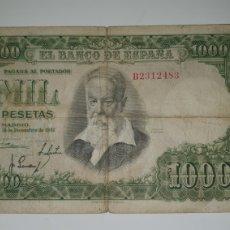 Billetes españoles: BILLETE 1000 PESETAS JOAQUÍN SOROLLA 1951.. Lote 218073457