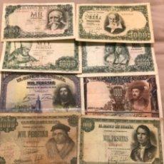 Billetes españoles: LOTE DE 10 BILLETES 1000 PESETAS DISTINTOS. Lote 218260587