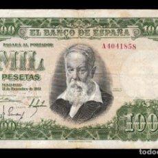 Billetes españoles: ESPAÑA SPAIN 1000 PESETAS JOAQUIN SOROLLA 1951 PICK 143 SERIE A BC/MBC F/VF. Lote 218605241