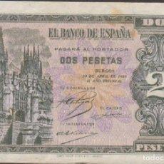 Billetes españoles: BILLETES ESPAÑOLES-ESTADO ESPAÑOL 2 PESETAS 1938 (SERIE L) (MBC). Lote 218629421