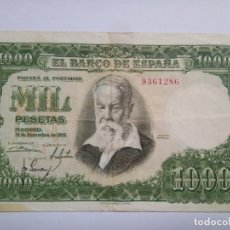 Billetes españoles: BILLETE - 1000 PESETAS - 1951 - JOAQUÍN SOROLLA - SIN SERIE. Lote 218739252