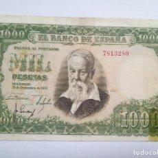 Billetes españoles: BILLETE - 1000 PESETAS - 1951 - JOAQUÍN SOROLLA - SIN SERIE. Lote 218739411