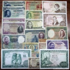 Billetes españoles: 20 BILLETES DE ALFONSO XIII, 2ª REPUBLICA Y DEL ESTADO ESPAÑOL. LOTE 1514. Lote 218762007