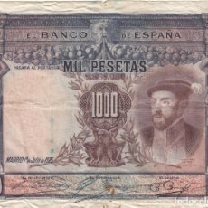 Billetes españoles: BILLETE 1000 PESETAS BANCO DE ESPAÑA EMISION 1 JULIO 1925. Lote 218878548