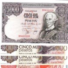 Billetes españoles: LOTE BILLETES ESTADO ESPAÑOL Y JUAN CARLOS I. Lote 218980011