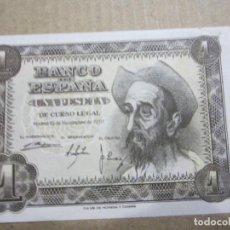 Billetes españoles: 1 PESETA DE 1951 SERIE P-087 PLANCHA. Lote 219295318