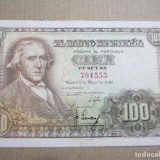 Billetes españoles: 100 PESETAS DE 1948 SIN SERIE-555 RARO ASÍ. Lote 219301262