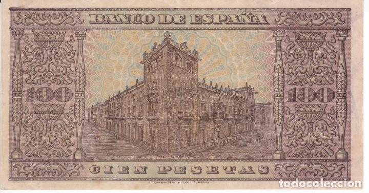Billetes españoles: BILLETE DE BURGOS DE 100 PESETAS DEL AÑO 1938 DE LA SERIE H EN CALIDAD EBC - Foto 2 - 219520111