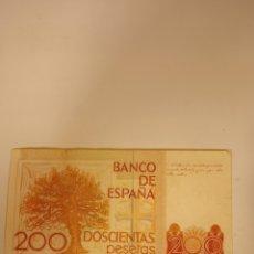 Billetes españoles: BILLETE DE 200 PESETAS DE 1980. Lote 219557255