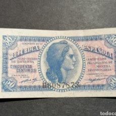 Billetes españoles: BILLETE 50 CÉNTIMOS, REPÚBLICA EBC. Lote 219710377