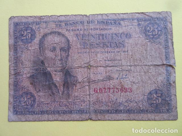 BILLETE 25 PESETAS FEBRERO DE 1946 SERIE G (Numismática - Notafilia - Billetes Españoles)