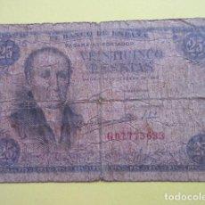 Billetes españoles: BILLETE 25 PESETAS FEBRERO DE 1946 SERIE G. Lote 220660262