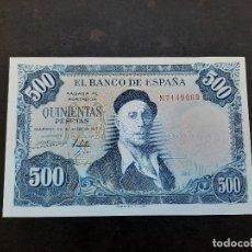 Billetes españoles: BILLETE DE 500 PESETAS DE IGNACIO ZULOAGA DEL AÑO 1954. S/C. Lote 220768197