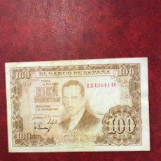 Billetes españoles: BILLETE DE ESPAÑA DE 1953 DE 100 PESETAS. Lote 221104473