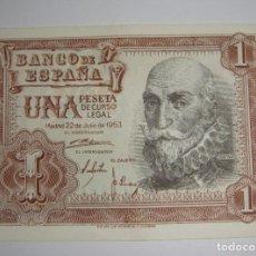 Billetes españoles: 1 PESETA. MARQUES DE SANTA CRUZ. 1953. SERIE 1F. SC (SIN CIRCULAR). Lote 221145645