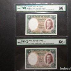 Billetes españoles: PMG BILLETES 25 PESETAS DE 1931, VICENTE LOPEZ PAREJA - ESTADO SC PMG 66 - 66 EPQ CERTIFICADO. Lote 221232331