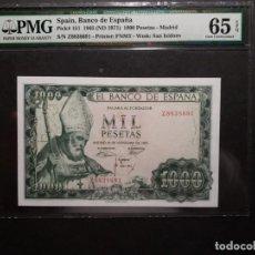 Billetes españoles: PMG BILLETE 1000 PESETAS DE 1965 OBISPO SAN ISIDORO SERIE Z PMG 65 EPQ. Lote 221235942