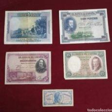 Billetes españoles: LOTE DE BILLETES ANTIGUOS. Lote 221816702