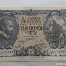 Billetes españoles: NUMISMATICA REQUEJO BILLETE 25 PESETAS AÑO 1940. Lote 221883072