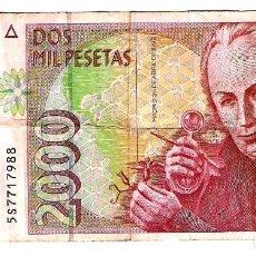 Billetes españoles: BILLETE DE DOS MIL PESETAS - ABRIL DE 1992 - CELESTINO MUTIS - CIRCULADO. Lote 221945022