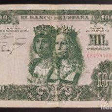 Notas espanholas: ESPAÑA 1000 PESETAS REYES CATÓLICOS 1957 PICK 149 SERIE E. Lote 244568445